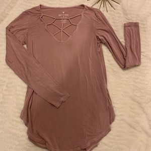Like New American Eagle Soft & Sexy Pink Small Top